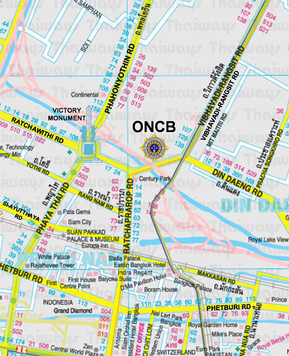 ONCB Head Office Map